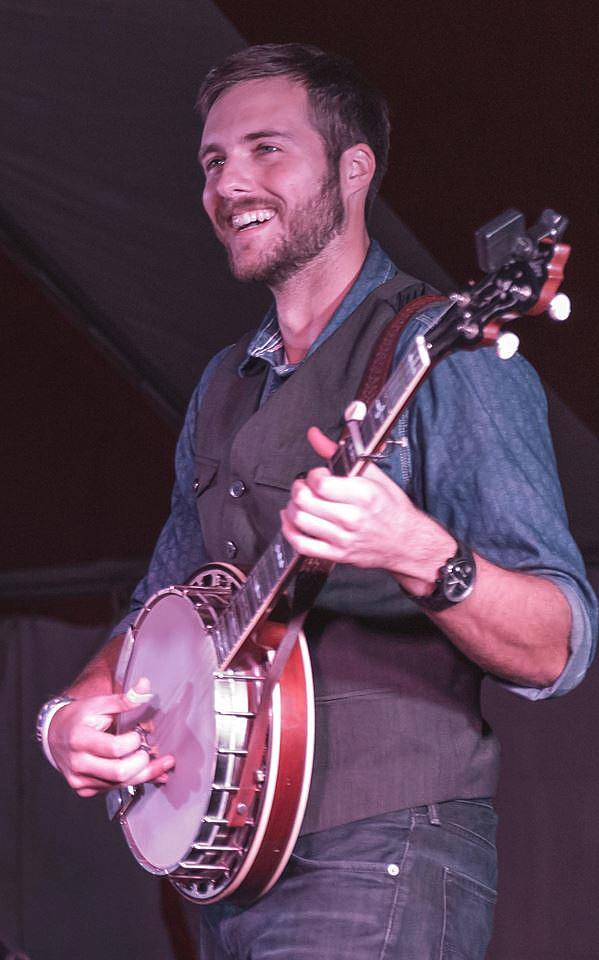 Will performing at the 2015 Bluegrass on the Green bluegrass festival in Mountlake Terrace, WA. Photo by Eric Frommer.