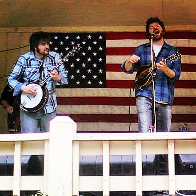 Matt Menefee and Bryan performing with Cadillac Sky at the Bean Blossom Bluegrass Festival in Bean Blossom Indiana, 2009.