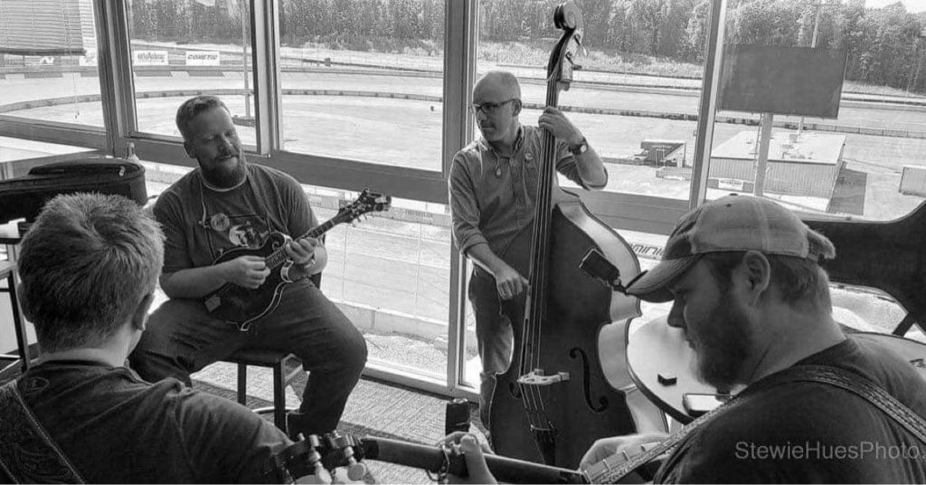 From left to right, Jake Workman, Jesse, Barry Reed, and Russ Carson. Photo by Sid Bolden