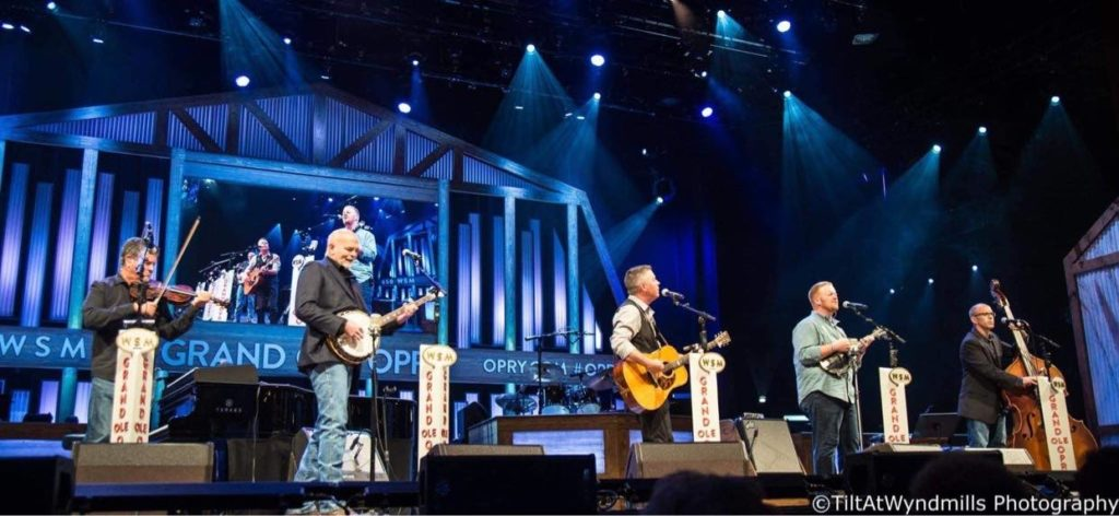 Lonesome River Band performing at The Grand Ole Opry. Photo by TiltAtWyndmills photography.