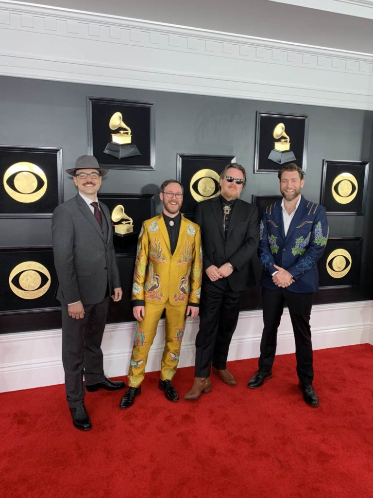 Wood and Wire at the 2018 Grammy Awards. Photo courtesy of CBS.