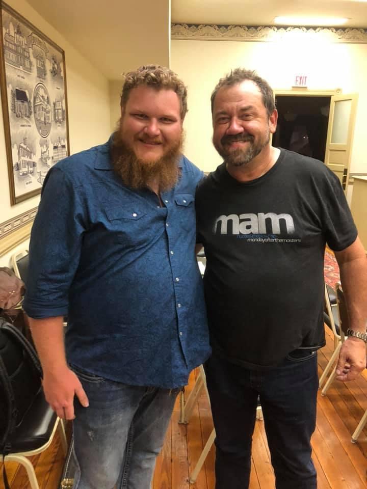 Will with Dan Tyminski. Photo by Kyle Leapard.
